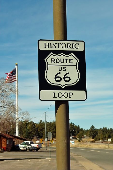 die historische Route 66 -  hier in Williams